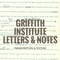 Griffith Institute Letters & Notes
