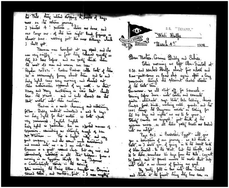 Letter from Joseph Lindon Smith to Corinna Putnam Smith, Pages 1 & 2