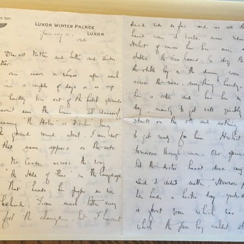 1913-1-2 Letter by Helen Winlock to her Mother, Father, Sister and Brother