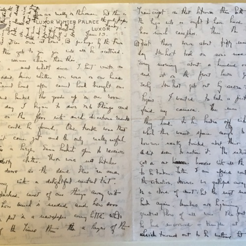 1913-1-13 letter from Helen Winlock to her family